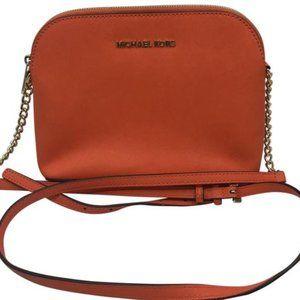 Michael Kors Orange Saffiano Leather CrossBody Bag